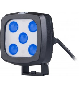 Foco LED Blue Point 25W 9-60Vcc Multi-Volt con Deutsch Conector DT2 azul safety light gruas horquillas