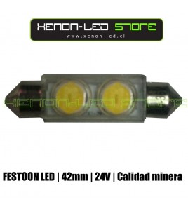 Fusible / Festoon 2 LED High Power 42 mm 24V