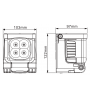 Foco LED Recargable BonTracker One® Cube Magnetic 15W y 3 funciones, resistente al agua. Batería interna y base magnética