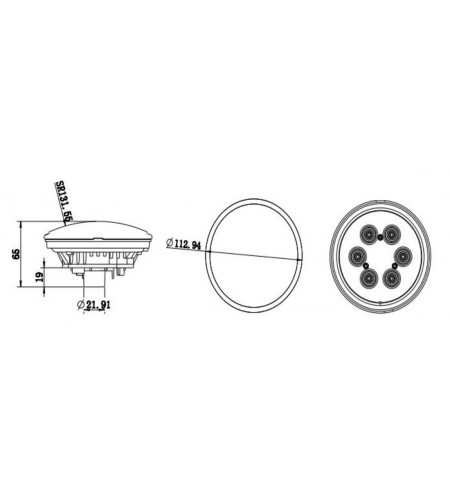 Festoon 1 LED SuperChip 1W 31 mm 24V